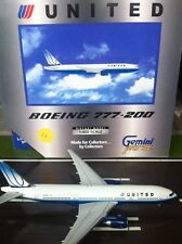 UNITES AIRLINES B777 REG N775UA  GEMINI JETSRARE  1:400 SCALE