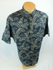 Mens WOOLRICH Shirt XL Short Sleeve Button Down Floral Pattern Camp Outdoor USA