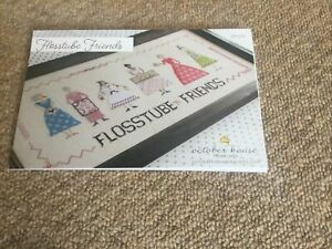 Floss Tube Friends Cross Stitch Chart By October House Fiber Arts