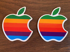 Apple Computer Sticker Pair- Console, Iphone, Laptop, Boards, Luggage, Mug