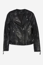 20f13ed0f3b Topshop TALL Biker Jacket pu leather black 8 10 12 14 16 new with tags