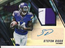 Stefon Diggs, 2017 Panini (Rookie & Stars), AUTOGRAPH!!! (3 CLR PATCH),#'d 15/50