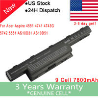 9 Cell Battery for Acer Aspire 4551 4741g 5741 AS10D31 AS10D41 AS10D51 AS10D61 F