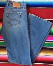 Vintage Women's Lucky Brand Long Inseam Blue Denim Jeans Flare Leg Size 10 X 33
