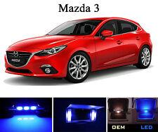 Ultra Blue Vanity / Sun visor LED light Bulbs for Mazda 3 (4 Pcs)
