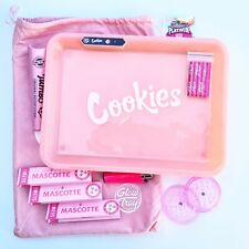 Smokers Kit Pink - Light up Glow Tray - Grinder - Papers and Cones Cookies