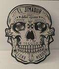 EL JIMADOR Blue Agave Tequila Skull Metal sign, Embossed, Hand Painted.