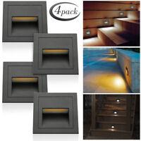 Black 3W 85-240V LED Wall Stair Deck Lights Corridor Yard Hotel Lamp Waterproof