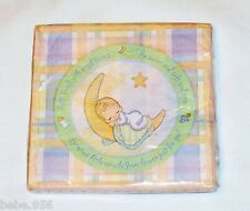 NEW~PRECIOUS MOMENTS~ 16 LUNCH NAPKINS HALLMARK  BABY SHOWER PARTY SUPPLIES