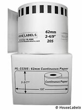Non Oem Fits Brother Dk 2205 Continuous Thermal Labels 1 Roll Of 100