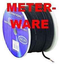Mikrofonkabel Meterware SCHWARZ 2 x 0,22 qmm Mikrokabel Studiomikrofonkabel NEU