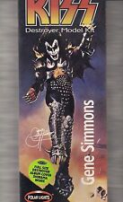 KISS GENE SIMMONS!~DESTROYER MODEL KIT~WITH ALBUM COVER DIORAMA INSIDE HERE!~~~~