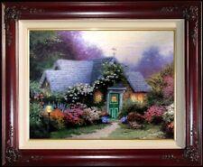 New listing Thomas Kinkade Dbl Signed Weathervane Hutch Rare 9x12 P/P Framed Canvas
