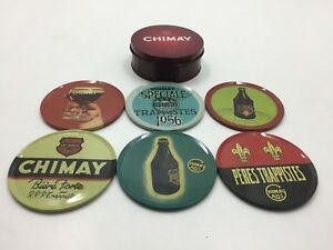 Chimay Beer Advertising Tin Case With 6 Coasters