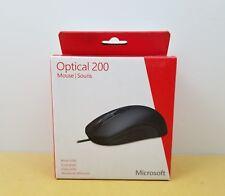 Microsoft Wired Optical Mouse 200 Model 1405 Black JUD-00001 NIB