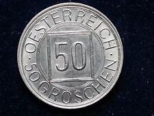 50 Groschen 1934 Österreich Österreich 50 Groschen 1934 **Nachtschilling**
