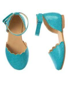 NWT Gymboree Seaside Stroll Blue strap Flat Dress Shoes  8 9 10 Toddler Girls