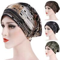 Womens Muslim Ruffle India Hat Chemo Hat Beanie Scarf Turban Head Wrap Cap 1PC
