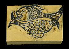 Peces Oro-Buffer Tinta Budista Scrapbooking Madera Tibetana 7550 -55