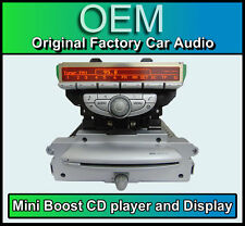 BMW Mini Cooper Boost CD Radio Stereo Auto MP3 CON MINI DISPLAY R56 Argento