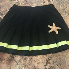Lily's of Beverly Womens Skirt sz.14 Pleated Black/Lime Tennis Skirt Athletic