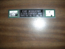 CARY MIDDLECOFF (GOLF) NAMEPLATE FOR AUTOGRAPHED BALL DISPLAY/FLAG/PHOTO