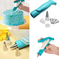 Cake Sugar Pastry Icing Piping Bag Nozzle Tips Decor Pen Fondant Craft Tool Kits