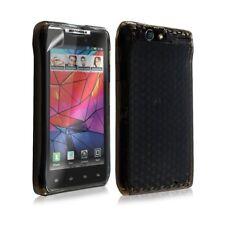 Housse coque etui gel damier transparent pour Motorola Razr XT910 couleur noir +