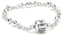 """Authentic Pandora """"5 CLIP STATION BRACELET"""" .925 Sterling Silver 21cm 8.3"""""""