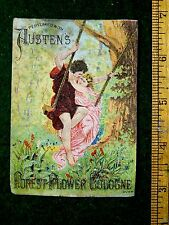 1880s Lovely Couple On Swing Perfumed With Austen's Forest Flower Cologne F14