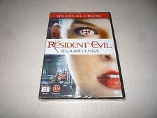 Resident Evil Quadrilogy: DVD enthält alle 4 Filme Brandneu Und Versiegelt