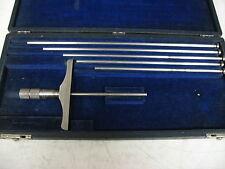 Brown Amp Sharpe Depth Micrometer Set Range 3 8 X 001 Item X8