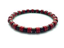 men's bracelet stretch beaded shamballa wooden beads surfer wristband cuff gift