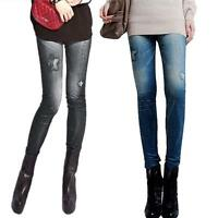 Women Winter Jeans Skinny Stretchy Jeggings Slim Leggings Pencil Sexy Pants