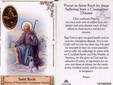 Prayer Saint Roch for Suffering from Disease Sick Illness Wallet Card HCH80SRE
