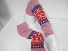 Stulpen Beinstulpen Rosa mit Herzen  One Size Leg Warmers