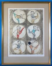 Graciela Rodo Boulanger Signed Untitled Dancing Lithograph Limited Edition