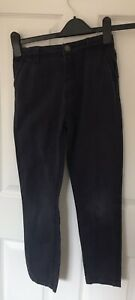 John Lewis age 10, boys blue chino trousers, in good condition
