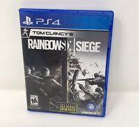 Tom Clancy's Rainbow Six Siege  (Sony PlayStation 4, 2015)