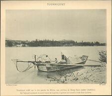 07 BOURG-SAINT-ANDEOL PECHE FLUVIALE AU TOURNIQUET IMAGE 1900 OLD PRINT