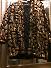 H&m Trend Velvet And Sequin Gold Open Cardigan