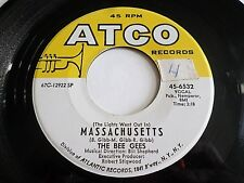 Bee Gees Massachusetts / Sir Geoffrey Saved The World 45 1967 ATCO Vinyl Record