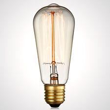ES ST58 40W Vintage Style Light Vertical Filament Edison Lamp Bulb For Home Cafe