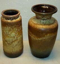 Keramik Vasen Scheurich 50/60er Jahre mid century FatLava Twins Caramel Lava 60s