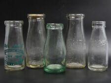 More details for a group of 5 1930-1950's  milk bottles