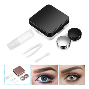 4-in-1 Mirror surface Contact Lens Travel Case Box Set Container Kit With Mirror