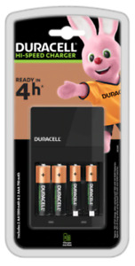 Duracell CEF14 Battery Charger with 2x AA and 2x AAA Batteries (R256)