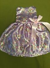 "Fits 15"" 16"" Baby Alive Doll Clothes Party Dress Floral Satin Purple Pink Bow"