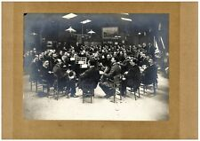 vintage giant photo musicians brass band orchestra music foto Paris France 1905