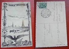 CARTOLINA SCUOLA MILITARE MAK TT 100 CORSO 1909-11 VIAGGIATA 1913
